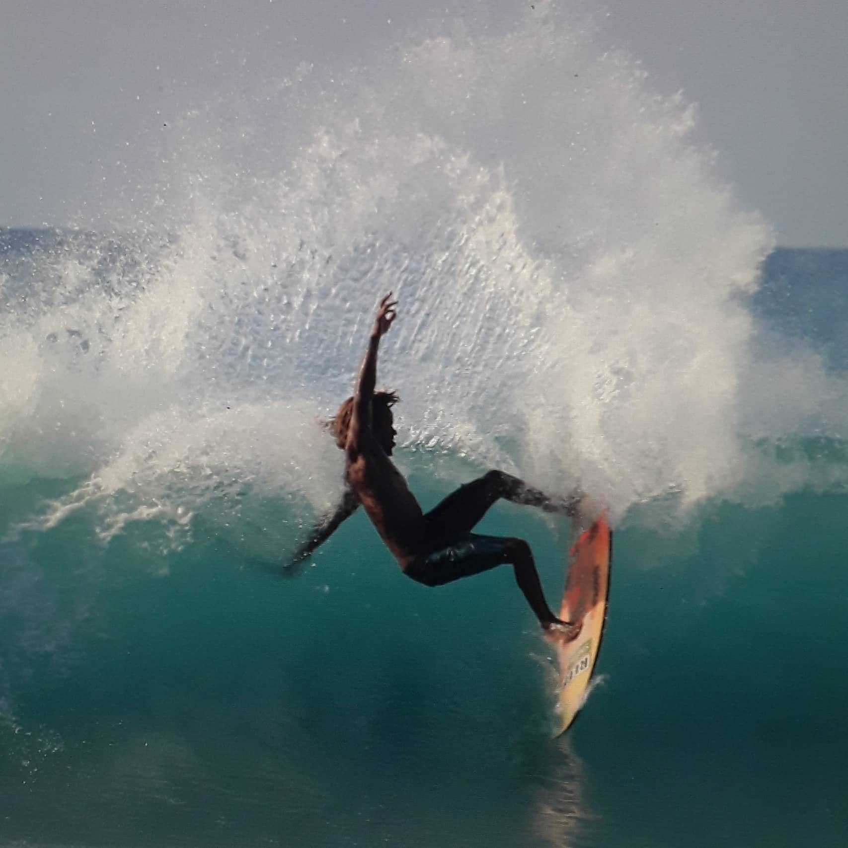 Surfing in Jamaica - Image by Billy Mistic Wilmot